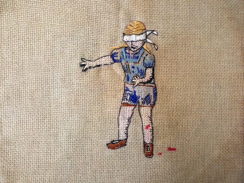 Annabel Elgar, Lockdown Cross-Stitch, Week three