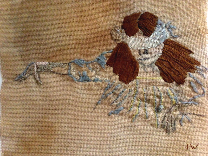 Annabel Elgar, Lockdown Cross-Stitch,