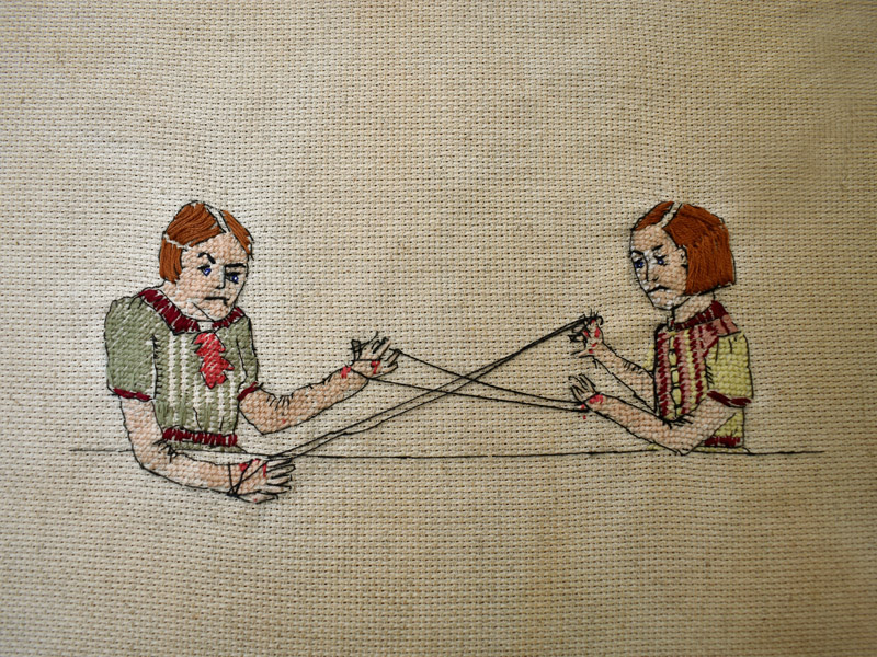 Annabel Elgar, Lockdown Cross-Stitch, Week One, 2021 lockdown