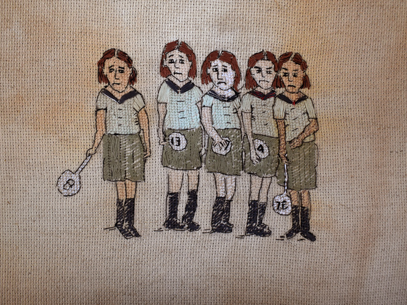Annabel Elgar, Lockdown Cross-Stitch, Week Three, 2021 lockdown